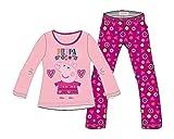 Peppa Pig Girls Long Sleeved cotton Pink Pyjamas three sizes