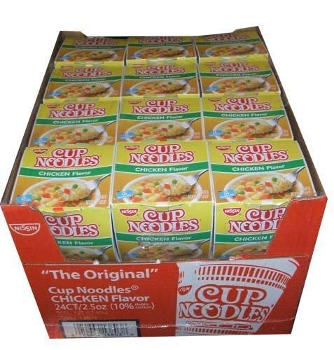 Nissin The Original Cup Noodles Chicken Flavor Noodle Bowls Twenty-Four 2.5 Ounce Cups