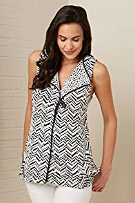 Janska Kara Chevron Made in USA Long Vest
