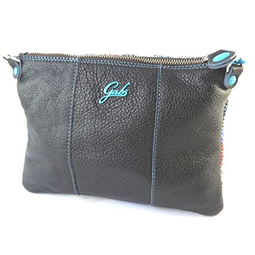 Borsa custodia in pelle 'Gabs'multicolore nero - 24x18x3 cm.