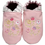 Robeez Soft Soles Kids' Spring Valley Pre-Walker Slip On,Pastel Pink,12-18 Months (4.5-6 M US Toddler)