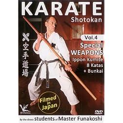 Shotokan Karate Vol.4 Special Weapons Ippon Kumite Kata & Bunkai - Filmed in Japan Keio Dojo [Blu-ray]
