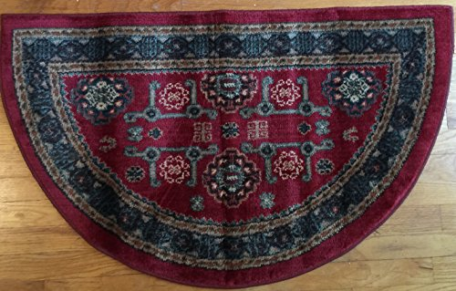 Rich Colors Traditional Lodge Fireplace Hearth Rug Mat
