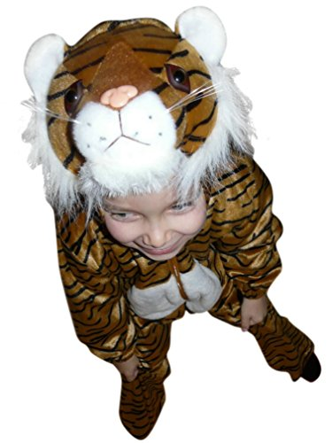 Fantasy World Boys/Girls Tiger Halloween Costume, Size 5, F14 (Tiger Costume Adults)