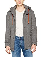 Guess Chaqueta Hooded Wollen (Gris Jaspeado)