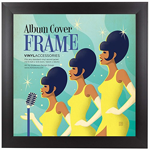 "Top-rated Album Frame - Made to Display Standard Album Covers, Vinyl Covers, Record Covers and LPs 12.5"" x 12.5"""