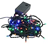 【ミックス】イルミネーションLEDライト クリスマスライト 100球 点灯パターン記憶メモリー付 防雨仕様 連結可 8パターン点灯・コントローラ付