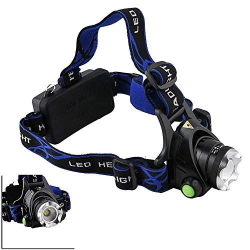 Happiness At Home Camping Hiking Hunting 1000Lm Cree Xm-L T6 Led Headlamp Adjustable Focus Zoom Light Lamp With 3 Modes Headlight