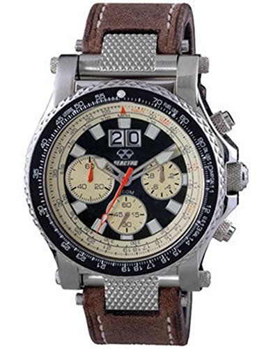 reactor-81361-mens-chronograph-brown-leather-band-black-tusk-dial-watch