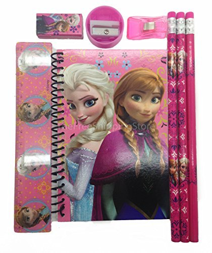 Disney Frozen Princess Anna Elsa & Olaf Stationary Set for Kids - Pink - 1