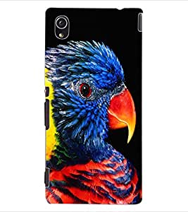 ColourCraft Beautiful Parrot Design Back Case Cover for SONY XPERIA M4 AQUA