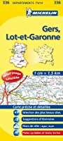 Carte DPARTEMENTS Gers, Lot-et-Garonne