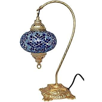 Table Lamp Mosaic Lamps Swan Lamp Blue Glass Moroccan Lanterns Turkish L
