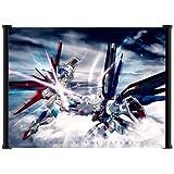 "Gundam Seed Destiny Anime Battle Scene Fabric Wall Scroll Poster (21""x16"")"