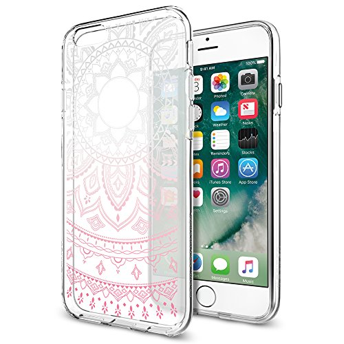 Cover-iPhone-6S-Spigen-Cover-iPhone-6-Cover-Silicone-Gel-Liquid-Crystal-Shine-Pink-Forma-Morbido-Custodia-iPhone-6S-Custodia-iPhone-6-035CS20767