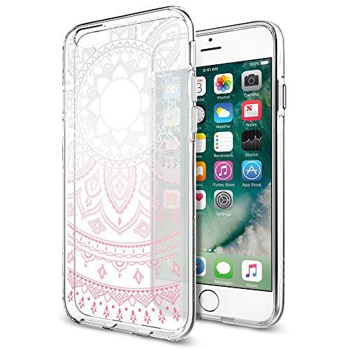 Spigen iPhone6S ケース / iPhone6 ケース, リキッド・クリスタル シャイン [ デザイン入 クリアケース ] アイフォン 6s / 6 用 カバー (iPhone6S / 6, ピンク)