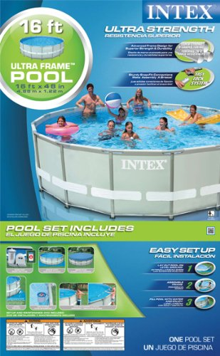 intex 54451eg 16 feet by 48 inch ultra frame metal frame pool set intex