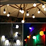 8m Outdoor LED Garden Party Home Festoon Lights (White)
