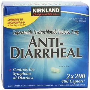 Kirkland Signature Anti-Diarrheal, 400-Count Caplets