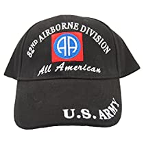 U.S. Army 82nd Airborne All American Hat Black