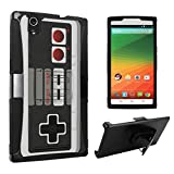 DuroCase ® ZTE ZMAX Z970 Hybrid Dual Layer Combat Armor Style Kickstand Case w/ Belt Clip Holster Combo - (Game Controller)