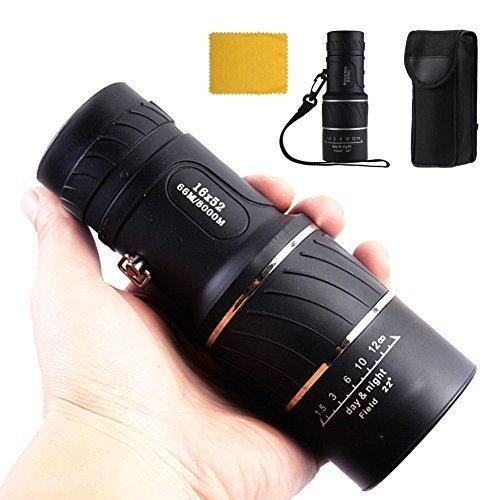 16x 52Dual Focus Optics Zoom Monokular Teleskope, Tag und Nacht Vision, für Vögel/Wildlife/Jagd/Camping/Wandern/Tourismus/Fernglas 66m/8000M
