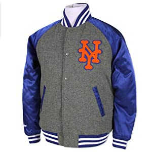 MLB New York Mets Triple Play Wool Jacket Mitchell & Ness Cooperstown Mens 4XL by Mitchell & Ness
