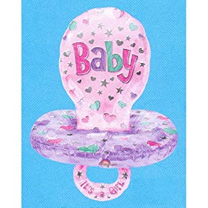 Mayflower Balloons 13939 59 Inch Baby Girl Pacifier Foil - Package