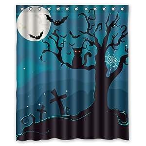 Honey Day House Halloween Waterproof Shower Curtain 60x72 Gift Choice