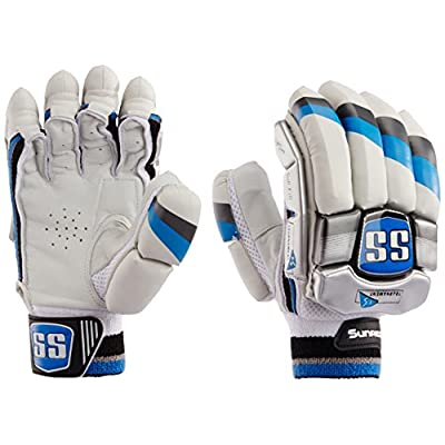 SS Tournament Men's RH Batting Gloves (Black/White)
