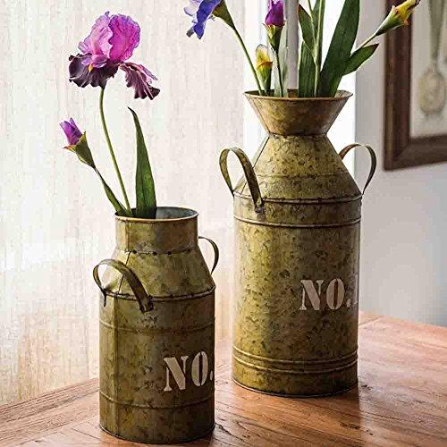 Watering Honey Galvanized Old Milk Can Country Rustic Primitive Jug Vase ~17.5 Inch 3