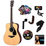 Yamaha FG800 Acoustic Guitar, Natural, BUNDLE w/ Legacy Accessory Kit (Tuner, Picks, Capo & Much More)
