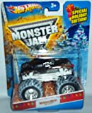 Hot Wheels Monster Jam Monster Mutt Rottweiler 2013 Holiday Edition with Snow on the Tires