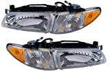 QP P111G/H-a Pontiac Grand Prix Passenger/Driver Lamp Assembly Headlight 2-pc Pair