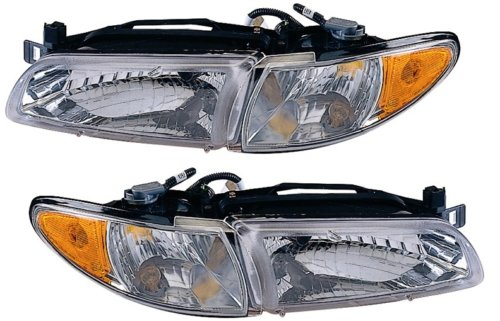 Pontiac Grand Prix Headlights OE Style Replacement Headlamps Driver/Passenger...