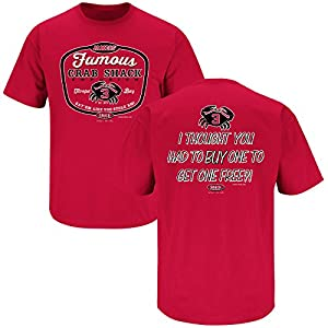 Tampa Bay Buccaneers Fans. Jameis' Famous Crab Shack Red T-Shirt (S-5X)