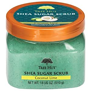 Tree Hut Shea Sugar Scrub, Coconut Lime, 18 Ounce (Pack of 3)