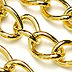 Chainology 18K Gold-Plated Chain _#52: 5.5×8.5mm Medium Curb Chain (per Yard/per 3 feet)