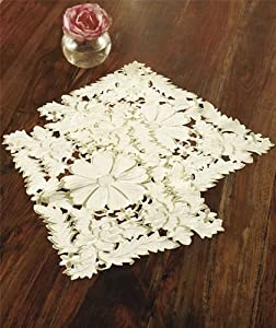 Cutwork Floral Placemats, Ivory, Set of 2