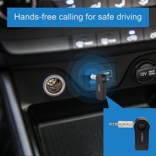 Black Smof Bluetooth 4.1 Hands-Free Car Kit//Wireless Bluetooth Audio Music Receiver with Built-in Mic,3.5mm Stereo Output,USB Charging,3M Adhesive Base for Smartphones SmofDirect Smof4823