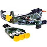 Deluxe Action Kids Military Crossbow Set with 4 Arrows and Target