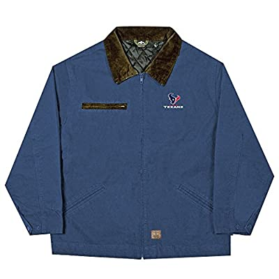 NFL Houston Texans Tradesman Canvas Quilt Lined Jacket, Navy, Large