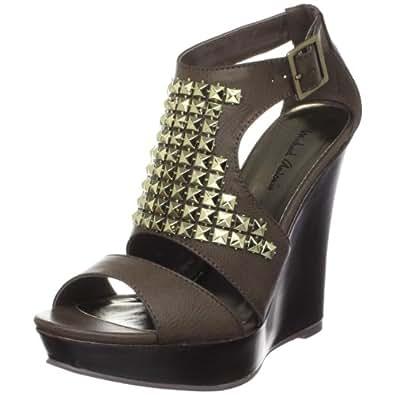 Michael Antonio Women's Gidget Wedge Sandal,Brown,10 M US