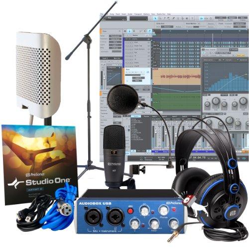 Presonus Audiobox Studio With Arf-42 Reflection Filter, Pop Filter & Mic Stand