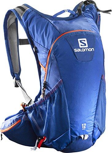 Salomon, Zaino leggero, Ideale per il running su strada, 12 litri, 45 x 22.5 x 13.5 cm, AGILE 12 SET, Blu, L38234800
