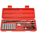 TEKTON 11501 1/4-Inch Drive Pro Socket Set, Metric, 22-Piece
