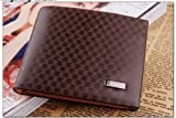 Light Coffee Mens Leather Wallet Purse Money Clip Billhold