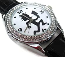 buy Xzs216 New Leather Diamond Crystal Watch / Icp Insane Clown Posse Juggalos Hatchet Man