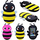 S9Q New 3D Animal Bee Cute Silicon Soft Back Cover Protecter Case For iPhone 4 4S * Yellow