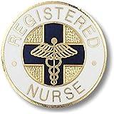 EMI Registered Nurse (RN) Emblem Pin - Round (Blue Cross)